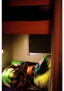 Jet in bed in Frankrijk